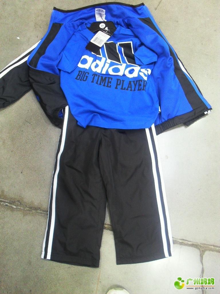 国直邮 正品 Adidas 阿迪达斯 2 6岁儿童3件套 运动服 全球代购